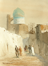 Watercolor by Ulughbek